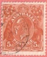 AUS SC #75  1929 King George  V, CV $14.00 - Used Stamps