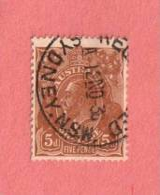 "AUS SC #75  1929 King George  V  (""SYDNEY N.S.W. / RE[GISTER]ED / 12 NO 36"")"