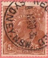 "AUS SC #75  1929 King George  V  (""SYDNEY N.S.W. / RE[GISTER]ED / 12 NO 36""), CV $14.00 - Usati"