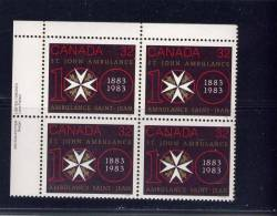 CANADA, 1983, # 980, ST JOHN AMBULANCE CENTENARY, - Blocks & Sheetlets