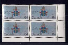 CANADA 1984, # 1031  PAPAL VISIT : COATS-of-ARMS & MAP, - Blocs-feuillets