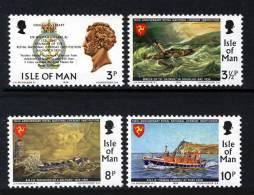 GB ISLE OF MAN IOM - 1974 RNLI ROYAL NATIONAL LIFEBOAT INSTITUTION SET (4V) FINE MNH ** SG 42-45 - Ships