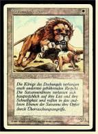 Karte Magic The Gathering  -  Beschwörung Von Löwen  -  Savannenlöwen  -  Deutsch - Magic The Gathering