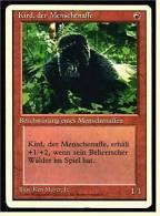 Karte Magic The Gathering  -  Beschwörung Eines Menschenaffen  -  Kird, Der Menschenaffe  -  Deutsch - Magic The Gathering
