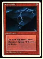 Karte Magic The Gathering  -  Spontanzauber  -  Blitzschlag  -  Deutsch - Magic The Gathering