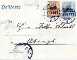 Ganzsache  Deutsche Reichspost, Breslau Nach Obernigk, 1904 - Ganzsachen