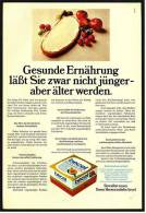 Reklame Werbeanzeige  ,  Becel Margarine  -  Gesunde Ernährung Läßt Sie Zwar Nicht Jünger -  ,  Von 1973 - Andere Sammlungen