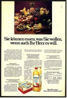 Reklame Werbeanzeige  ,  Becel Margarine  -  Sie Können Essen, Was Sie Wollen,  Von 1973 - Andere Sammlungen