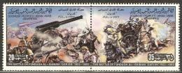 1980 Mi# 817-818 ** MNH - Pair - Battle Of Fundugh Al-Shiban - Libië