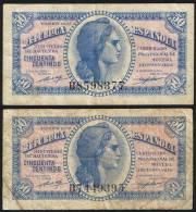 50 Centimos  EDIFIL N° C44  REPUBLICA ESPAÑOLA  2 Exemplaires - [ 2] 1931-1936 : République