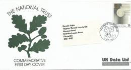 1995 National Trust 19p Only On Special UK Data Ltd FDC FDI London 11 Apr 1995 - FDC