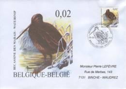 Enveloppe 2003 N° 3199 Avec FDC(prévente) - Oiseau Bécassine Des Marais - FDC