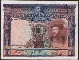 1000 PESETAS  EDIFIL N° C2  CARLOS I - [ 1] …-1931 : Premiers Billets (Banco De España)
