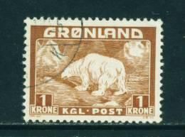 GREENLAND - 1938 Polar Bear 1k Used (stock Scan) - Greenland