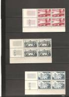 SERIE TOURISTIQUE Bloc De 4 Coin Daté  N° 1036**1037**1038**1039**1 040**1041**1042** - 1950-1959