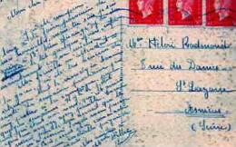 3 Marianne De Dulac  1945 50c Sur Carte Postale De Bordeaux Destination Amiens(somme) - 1944-45 Marianne De Dulac
