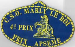 PLAQUE PUBLICITAIRE  COURSE HIPPIQUE  4e PRIX APSEME  CSO Marly Le Roi - Sports