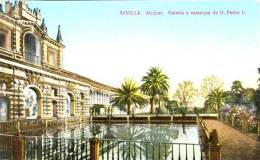 SEVILLE - SEVILLA - Alcazar - Galeria Y Estanque De D. Pedro I. - Ed. C.R.S. N° 136   -      (3172) - Sevilla