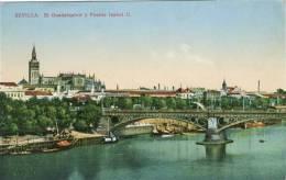 SEVILLE - SEVILLA - El Guadalquivir Y Puente Isabel II - Ed. C.R.S. N°   63 -    (3177) - Sevilla