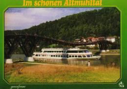 02112 - Motorschiff MAXIMILIAN II Auf Dem Rhein-Main-Donau-Kanal Bei Markt Essing - Non Classés