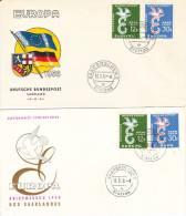 FDC  Saarland  1958  Europa - Ohne Zuordnung