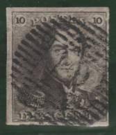 BELGICA 1849 - Yvert #1 - VFU - 1849 Epaulettes