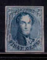 20 Cent Bleu Très Bien Margé Obl Très Légère. Effigie Dégagée. SUPERBE - 1858-1862 Médaillons (9/12)