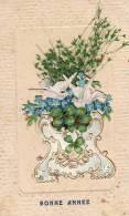 AK MATERIALKARTEN VÖGEL BLUMEN Pappe Und Kunststoff Zweigen KLEE , OLD POSTCARD 1906 - Ansichtskarten