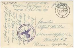 Deutsches Reich Feldpostkarte 1943 Marineschule Westerm�nde