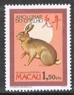 MACAU 1987    ANO LUNAR DO COELHO      LUNAR YEAR OF THE RABBIT - Macao