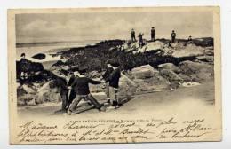 K23 - SAINT-BREVIN-LES-PINS - Rochers Près De La Plage  (CARTE PIONNIERE Animée - Scan Du Verso) - Saint-Brevin-l'Océan