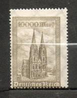 ALLEMAGNE Cathédrale De Colone 10000m Olive 1923 N°250 - Neufs
