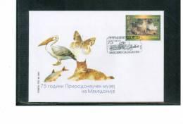 Makedonien / Macedonia 2001 Naturkundliches Museum / Natural History Museum FDC - Ohne Zuordnung