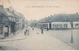 CPA 59 WATTRELOS La Rue Du Moulin 1928 - Wattrelos