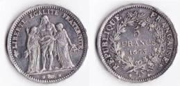A SAISIR---5 FRANCS HERCULE 1873 A--ETAT TB//TTB++ - France