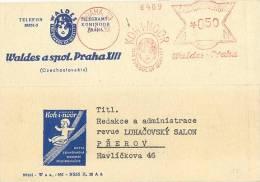 CESKOSLOVENSKO :1939:  Red Postal Metermark On Travelled Cover :  ##KOH-I-NOOR, Waldes-Praha##,KIND,ENFANT,CHILD, - Ohne Zuordnung