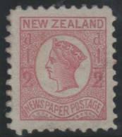 NUEVA ZELANDA 1873 - Yvert #37 (Periodicals) - MLH * - 1855-1907 Colonia Británica