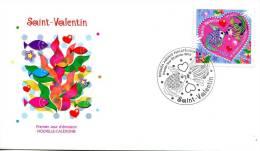 Nouvelle Calédonie   FDC   Premier Jour 23 Janvier 2012    Saint Valentin - Nueva Caledonia