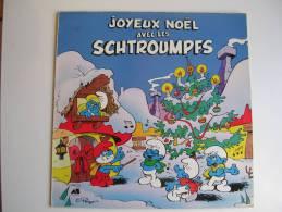 """33 Tours - Série TV """" LES SCHTROUMPFS - JOYEUX NOËL """" ( Déssin Animé - PEYO ) - Soundtracks, Film Music"""