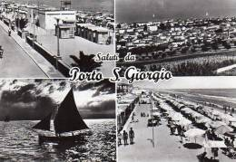 SALUTI DA PORTOSANGIORGIO (AN) - VEDUTINE - F/G - V: 1965 - S/B - Ancona