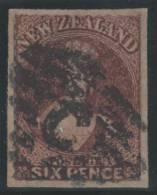NUEVA ZELANDA 1858/59 - Yvert #10 - VFU - 1855-1907 Kolonie Van De Kroon