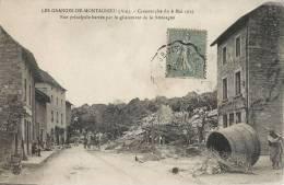 LES GRANGES-DE-MONTAGNIEU CATASTROPHE DU 6 MAI 1919 RUE PRINCIPALE BARREE PAR LE GLISSEMENT DE LA MONTAGNE 01 AIN - Francia