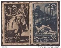 ES773-LA834TPO.España Spain Espagne OBREROS DE SAGUNTO  1938 (Ed 773/4**) Sin Charnela LUJO - Otros