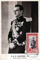 1950 Monaco, Schöne Frankierung Auf Ak S.A.S. RAINER III, G. Detaille, Pothographe, Monte Carlo - Monaco