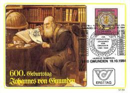 AUTRICHE CARTE MAXIMUM NUM.YVERT 1622 MATHEMATIQUES ASTRONOMIE GMUNDEN - Maximum Cards