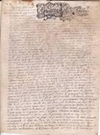 """Parchemin """"acquest D´une Maison"""" - 1704 - Auxonne - 4 Pages - Manuscrits"""