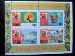 ZAIRE 1978  Expedicion En El Rio Zaire    Yvert Nº BF 8 - 9 ** MNH - Zaire