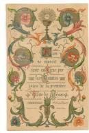 SOUVENIR 1 ère COMMUNION EN 1898  EGLISE SAINT CHARLES SEDAN 08 ARDENNES - Santini