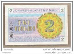 Kazakistan - Banconota Non Circolata FdS Da 2 Tiyin P-2c - 1993 - Kazakistan