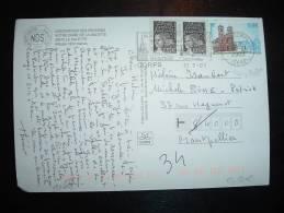 CP TP MAURY 3488 NOTRE DAME DE LA SALETTE 0,46E + TP MARIANNE 0,02E X2 OBL. MEC. 31-7-2003 CORPS (38 ISERE) - France